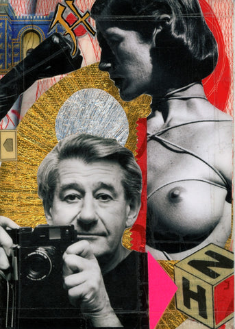 André Boitard Helmut Newton Hommage Collage Artwork Original