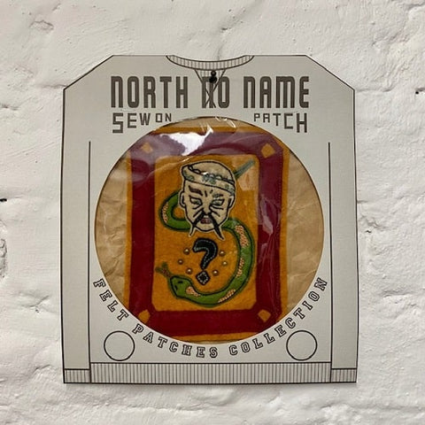 North_No_Name_Felt_Patch_Snake_Tokyo_Japan