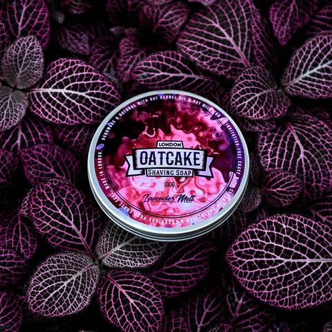 Oatcake-Lavender-Melt-Tallow-Rasierseife-small-batch-shaving-soap