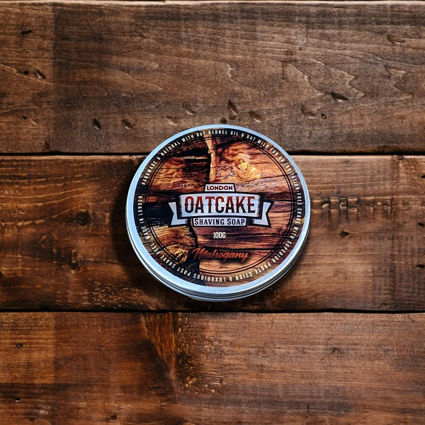 Oatcake-Mahagoni-Tallow-Rasierseife-small-batch-shaving-soap