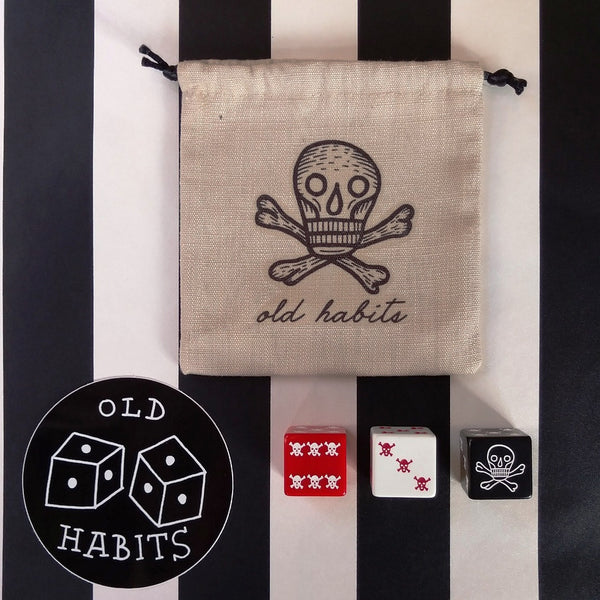 Old Habits Skull Dice