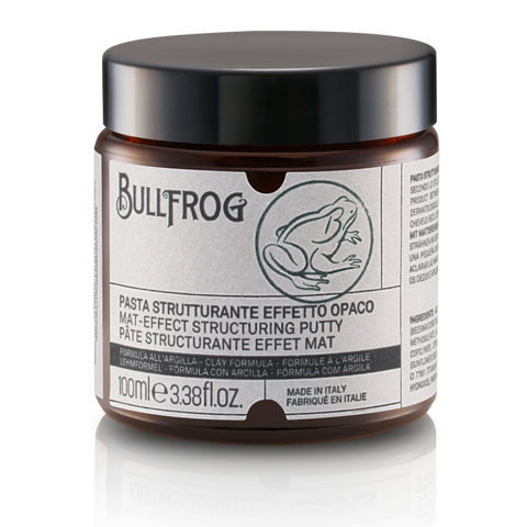 Bullfrog Matt Effect Structuring Putty Barbershop Milan Natural Hair Care
