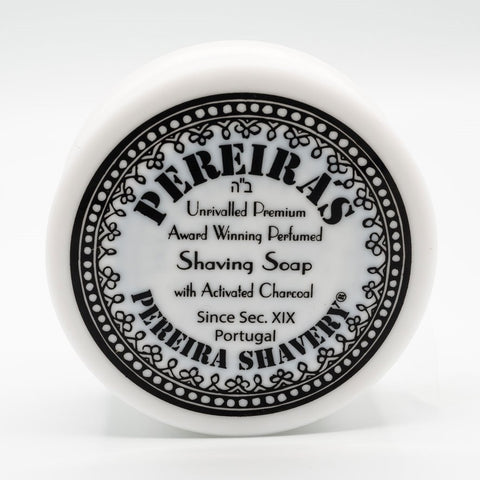 Pereira Shavery Rasierseife Orange Cinnamon Activated Charcoal Luxury Shaving Soap