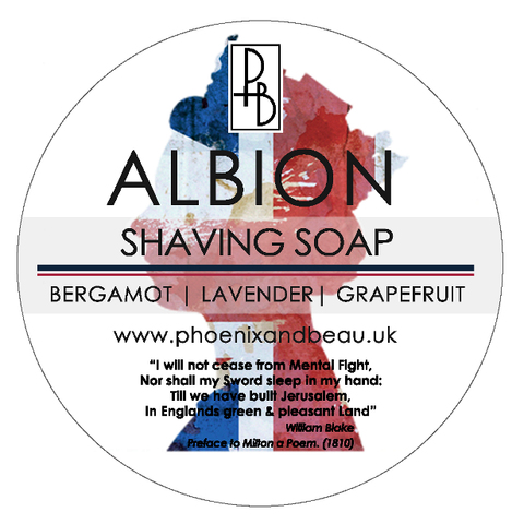 Phoenix and Beau Albion Shaving Soap Rasierseife Tallow Artisan