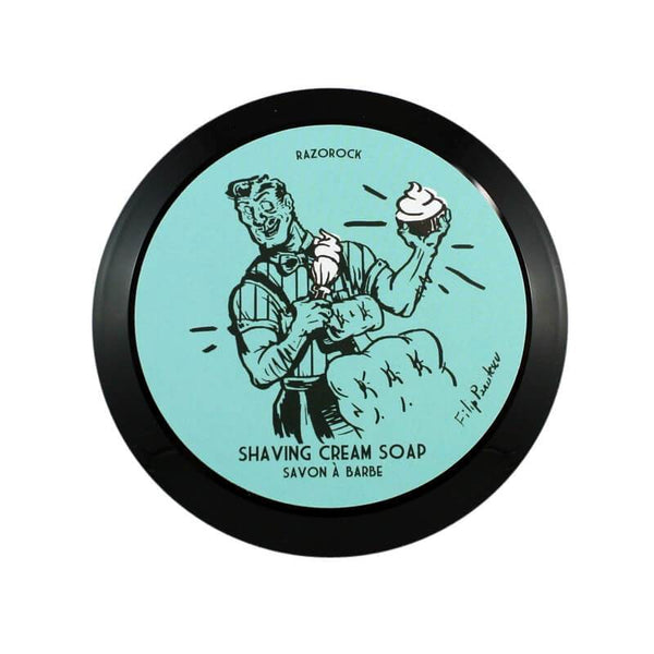 RazoRock Blue Barbershop Luxus Rasierseife Luxury Shaving Soap