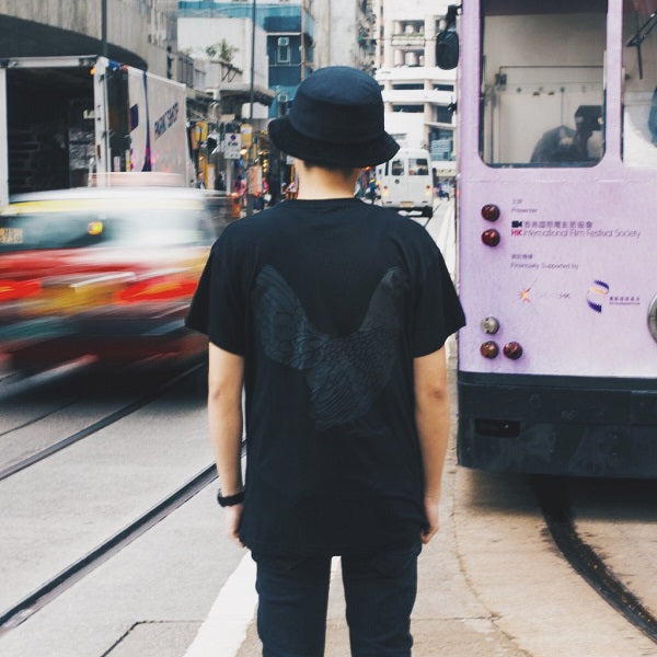 Yardbird-T-Shirt-Cotton-Double-Black-Crew-Hong-Kong