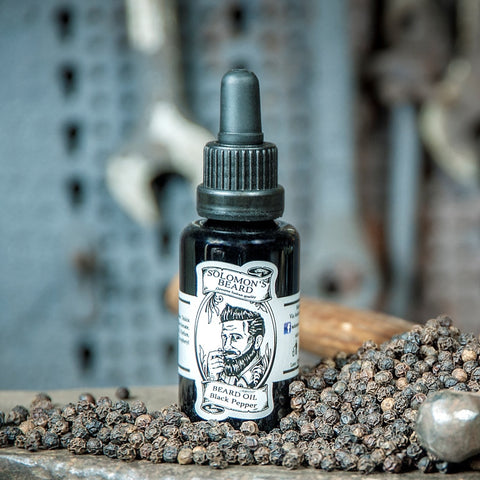 Solomons Beard Black Pepper Beard Oil Bartöl Italy