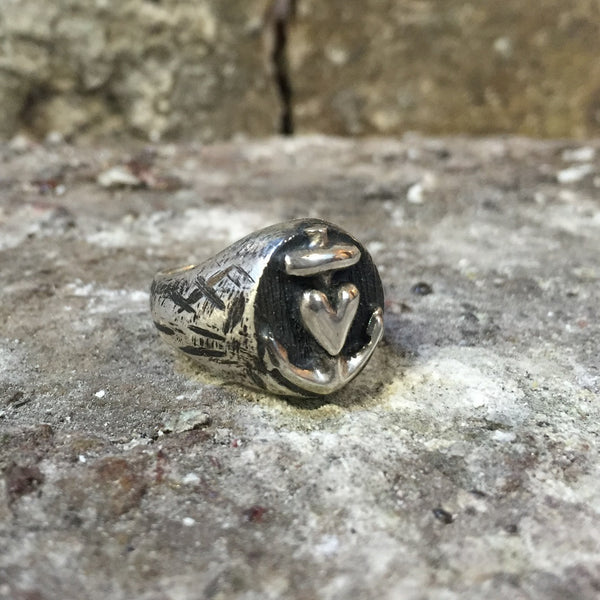 Soul Objects Sterling Silber Ring Liebe Glaube Hoffnung ELL Milano