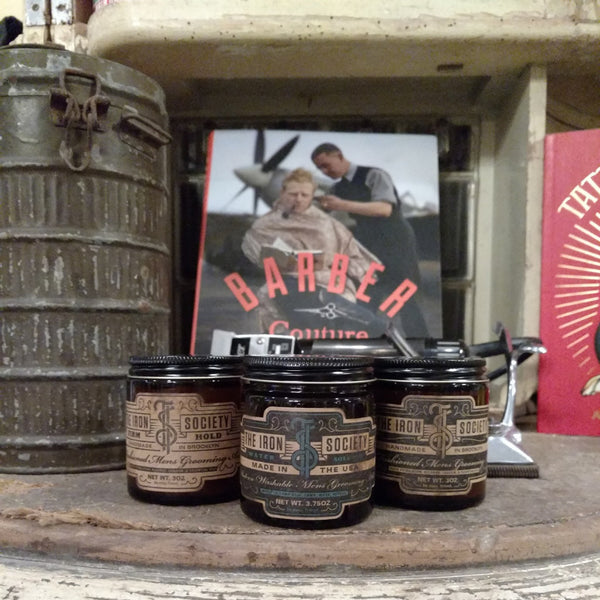 The Iron Society Firm Hold Pomade Brooklyn USA Barbershop Best Pomade World