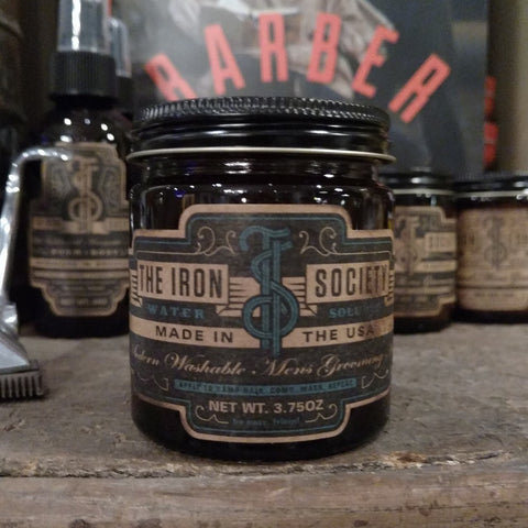 The Iron Society Water Soluble Pomade Brooklyn USA Barbershop Best Pomade World
