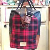 TARTAN & LEATHER WEEKENDER