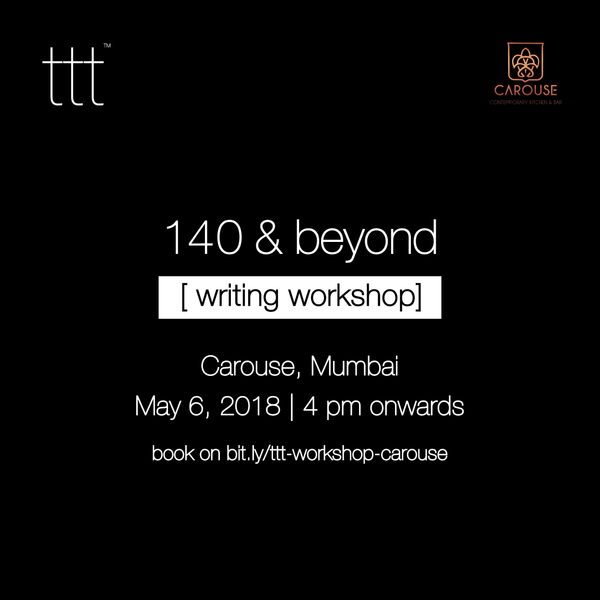 140 & Beyond - Carouse, Mumbai [6th May, 2018] Ticket + tttee