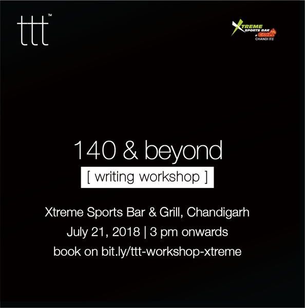 140 & Beyond - Xtreme Sports Bar, Chandigarh [21st July, 2018] Ticket