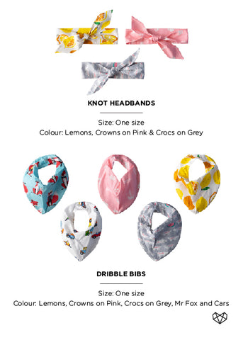 Kapas | Summer 18/19 Collection Bibs and Headbands