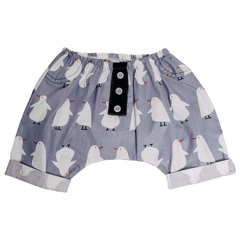 Kapas Baby | Baby short with penguins, cotton, locally made.