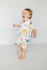 Collared onesie - Under the sea