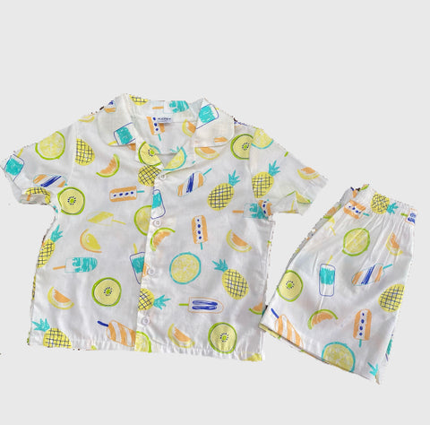 Cotton Pj Sets - Ice Lollies