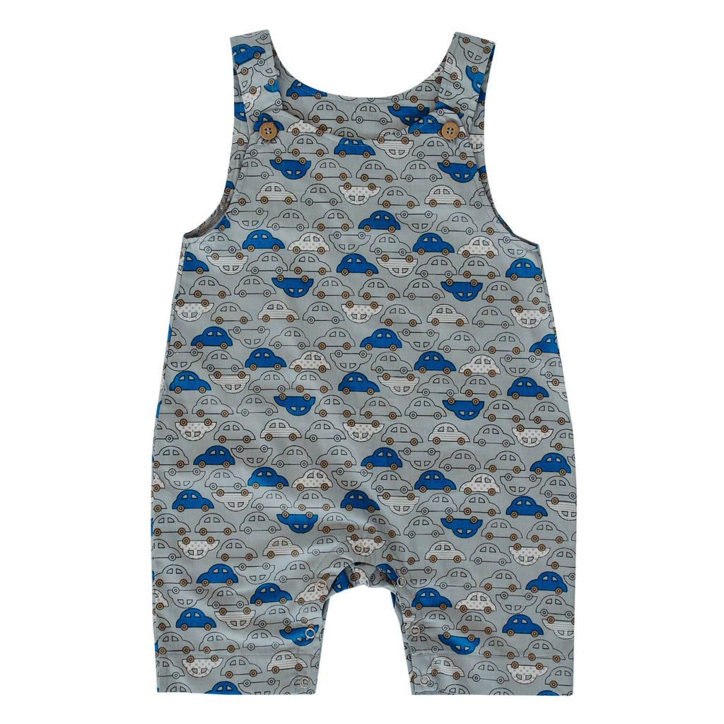 Summer Dungarees - Cars on Grey