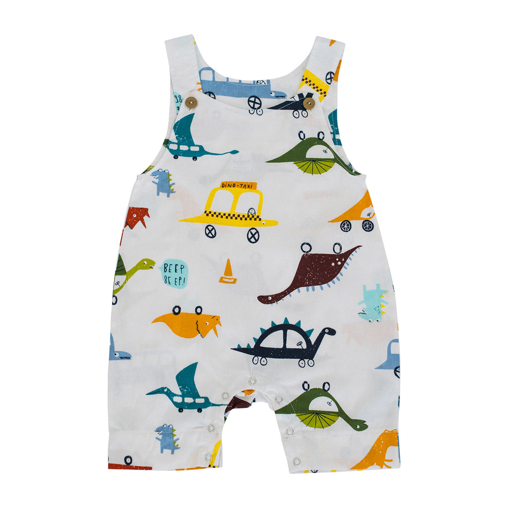 Summer Dungarees - Dinosaurs