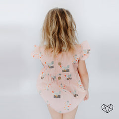 Frilly Romper - Farm Yard
