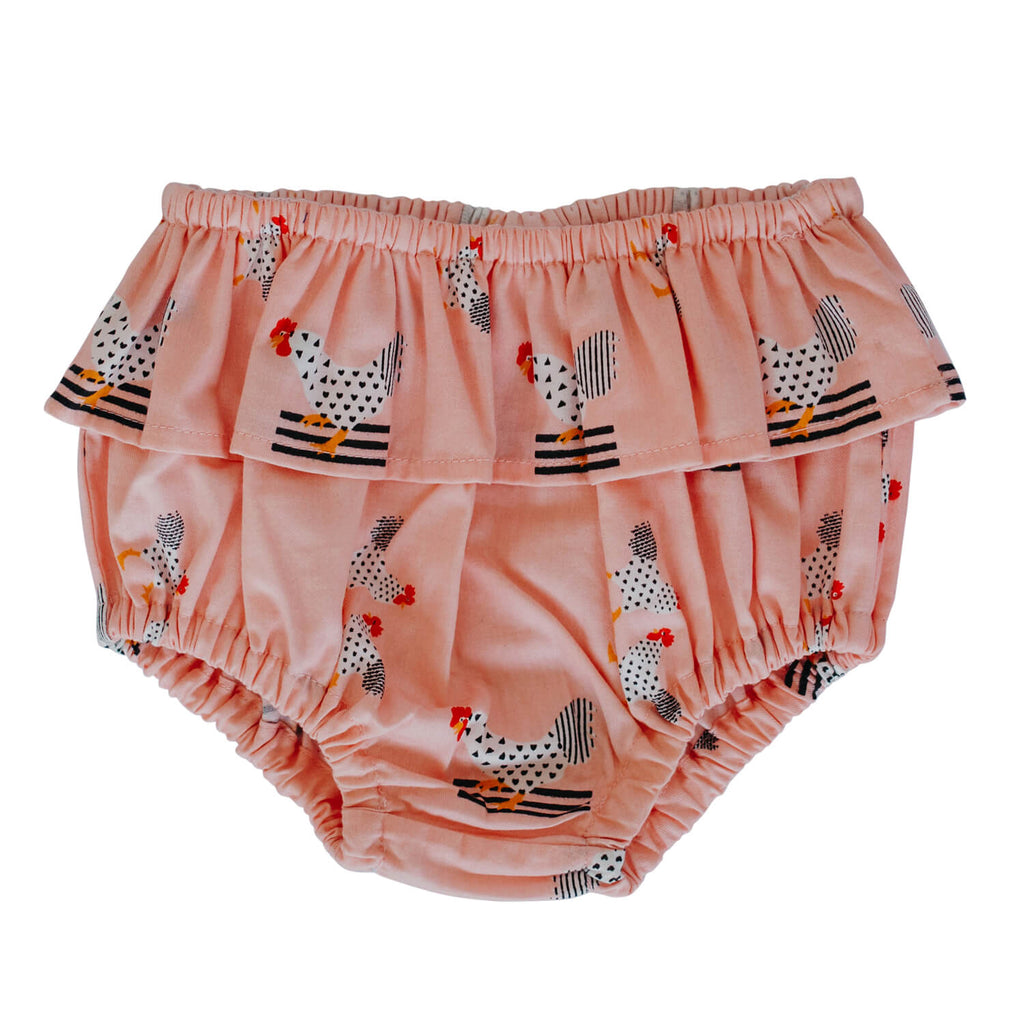 Frilly Bloomers - Pink Chickens