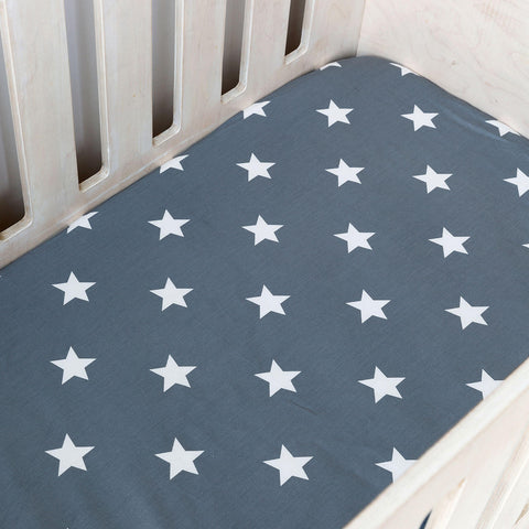 Cot Fitted Sheet - Stars