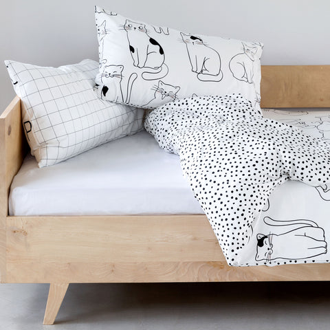 Kids Duvet - Cats With Spotted Reverse