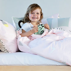 Kids Duvet Set - Pineapples And Ice Cream With Spotted Reverse