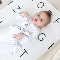 Cot Fitted Sheet - Letters