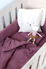 Cot Fitted Sheet - Mauve Muslin