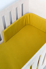 Cot Fitted Sheet - Yellow Mustard