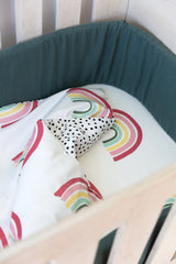 Cot Fitted Sheet - Rainbow