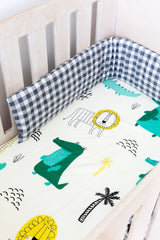 Cot Fitted Sheet - Animals
