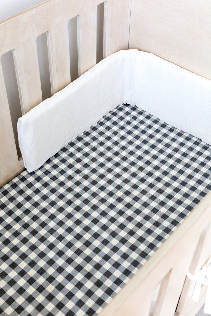 Cot Fitted Sheet - Gingham