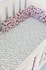Cot Fitted Sheet - Spotted