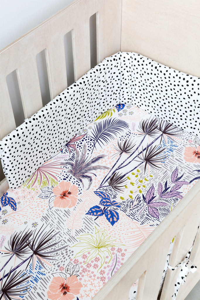 Cot Fitted Sheet - Botanical