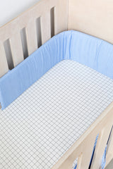 Cot Fitted Sheet - Small Grid