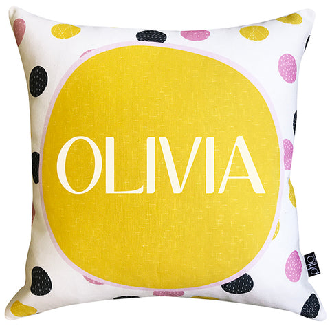 Personalised Cushion - Polka Dot