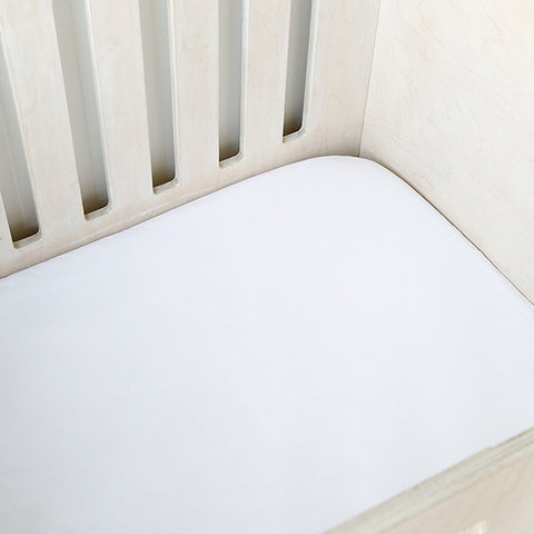 Cot Fitted Sheet - White