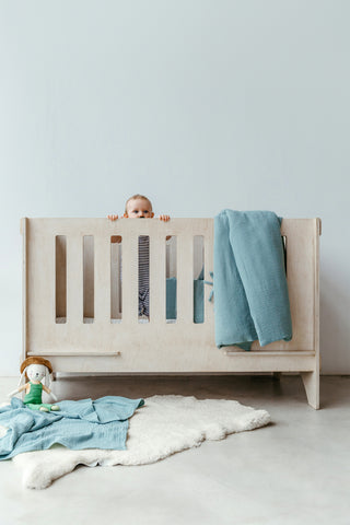 Cot Duvet - Duck Egg