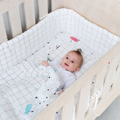 Cot Bumper Cover - White