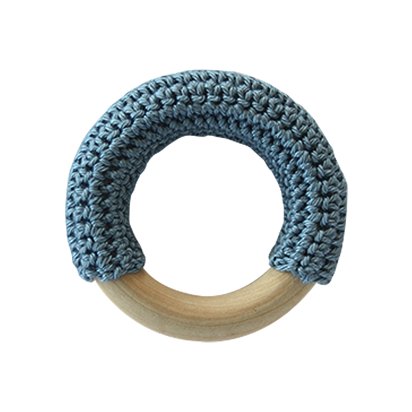 Teething Ring - Denim