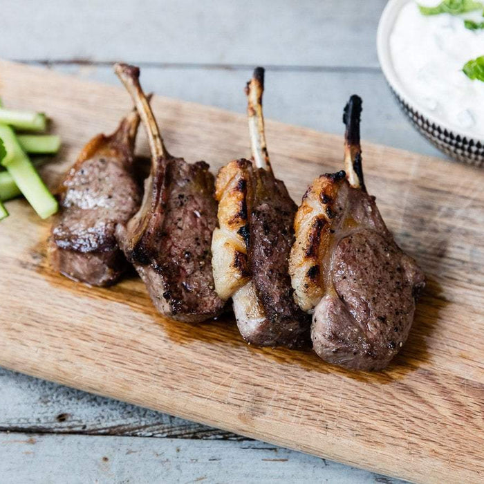 Marinated Lamb Cutlets with Tzatziki