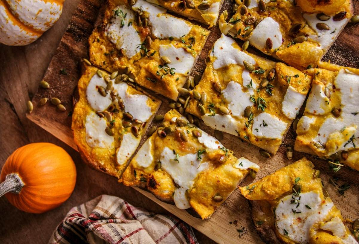 Protein-crust Pizza with Pumpkin, Thyme, and Ricotta Featured Image