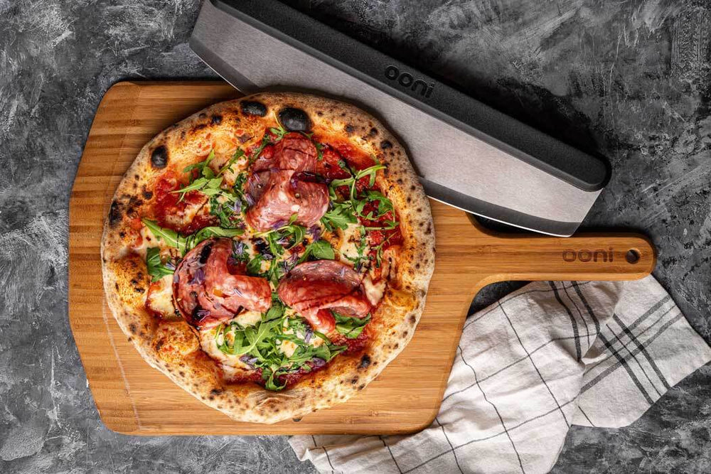 Milano Salami and Rocket Pizza