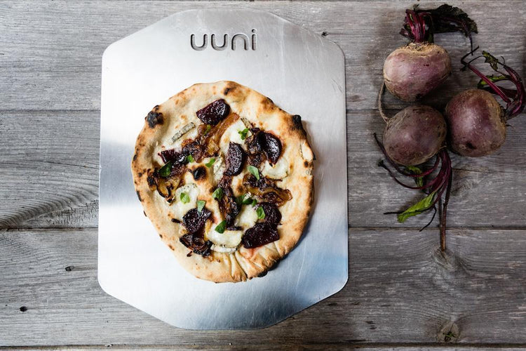 Beet, Goat's Cheese & Caramelised Onion Pizza