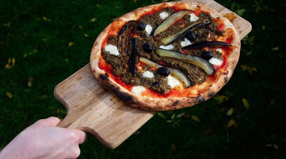 Tapenade, Aubergine and Black Olive Pizza