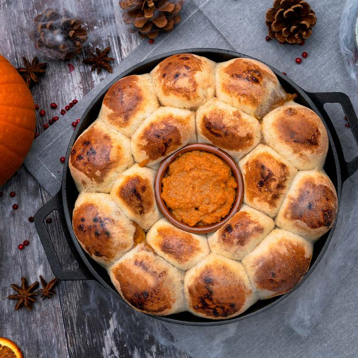 Pumpkin Spice and Chocolate Stuffed Dough Balls