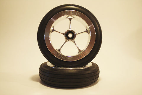 "4 3/8"" Wheel Set with 1/4"" or 3/16"" Axle"