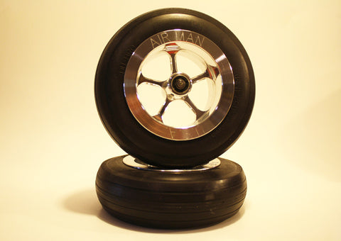 "6"" Wheel Set with 1/4"" Axle"